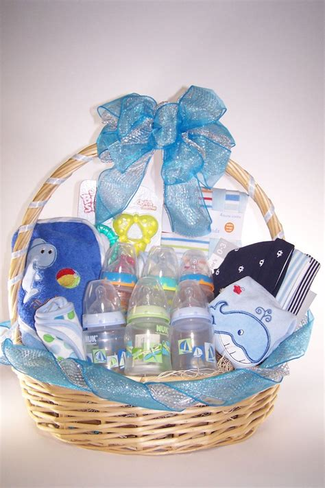 Gifts To Give For Baby Shower by Baby Shower It S A Boy Gift Basket Gift Baskets
