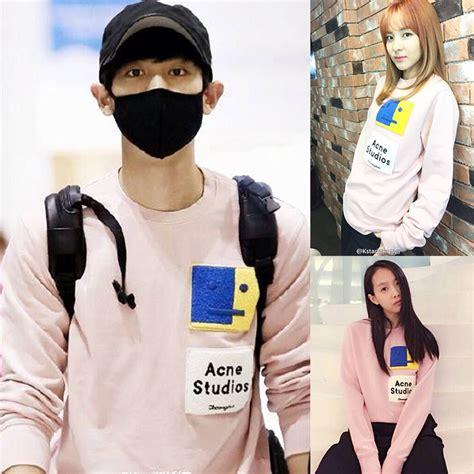 V Hoody Spandek Korea Style 2015 kpop hoodie fashion light pink sweatshirt korean style casual winter clothes 2ne1 sandara
