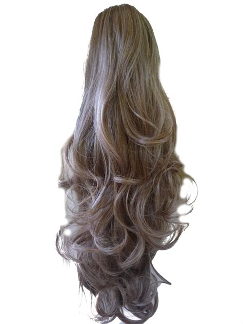 Light Brown Hair Extensions by Ponytail Clip In Hair Extensions Light Ash Brown 10