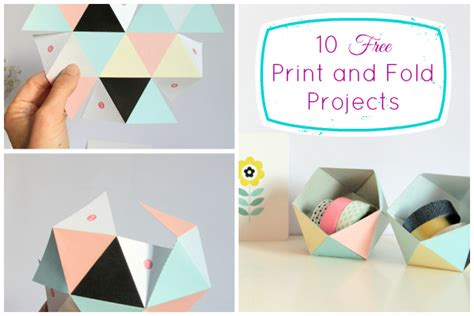 Dollar Store Home Decor Ideas 10 Free Print And Fold Crafts 187 Dollar Store Crafts