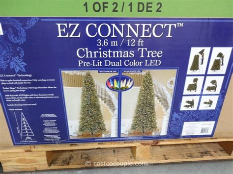 how to connect led lights on christmas tree ez connect 12ft prelit led tree