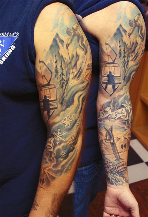 tattoos for skiing and snowboard lovers snowboard