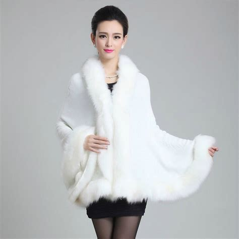 autumn winter new fur coat faux fox surround