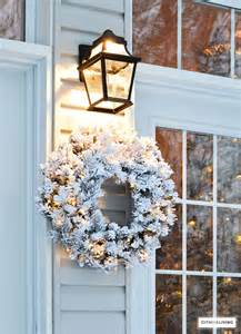 outdoor wreath with lights citrineliving outdoor decor and new lighting