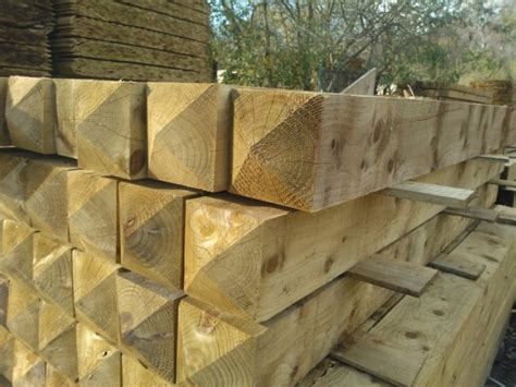 gate post treated diamond top     ft mm