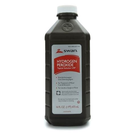 Will Hydrogen Persoxide Cause A Detox Crisis by Hydrogen Peroxide 3 Topical Usp 16 Ounce Bottle Each