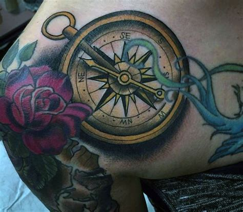 tattoo viking compass 70 compass tattoo designs for men an exploration of ideas