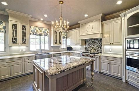 Stylish Kitchen With Distressed Cabinets Home Design White Antique Kitchen Cabinets