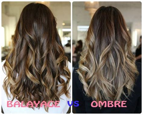 highlights vs ombre style difference between balayage and ombre hair color balayage