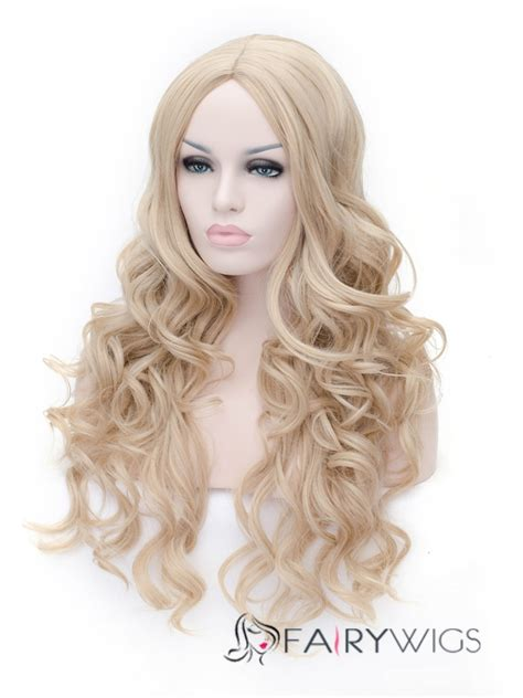 2015 new wig styles 2015 new style flaxen capless long wavy wig fairywigs com
