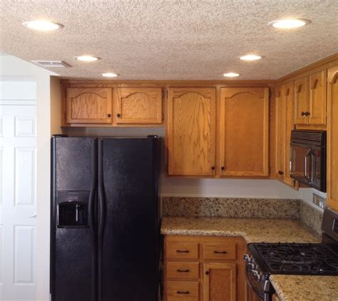 pictures of recessed lighting in kitchen how to update old kitchen lights recessedlighting com