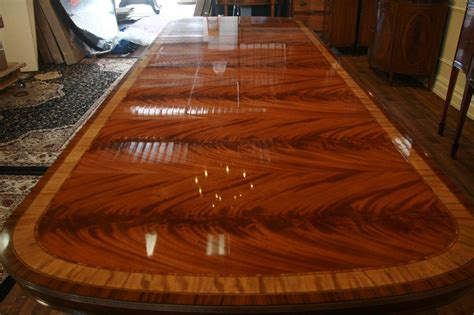 large high  mahogany reproduction dining room table