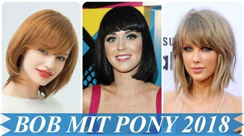 neue bob frisuren mit pony  youtube
