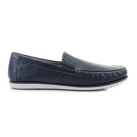 portland puppies mens guys hush puppies bob portland navy slip on loafers shoes shu size ebay