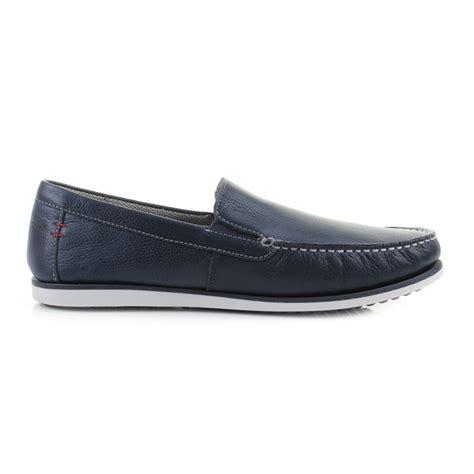 puppies portland mens guys hush puppies bob portland navy slip on loafers shoes size ebay