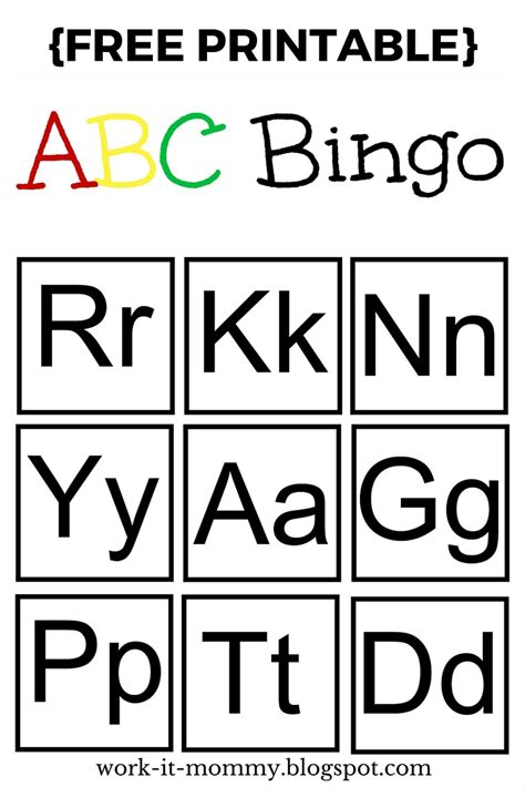 printable alphabet bingo work it mommy alphabet bingo ttbh 7