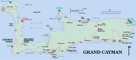 grand map with cities cayman islands water sports fishing sting city tours