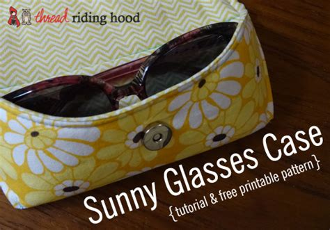 free pattern glasses case made by me monday sunny glasses case tutorial free