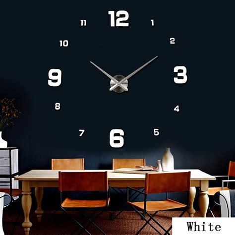 Jam Dinding Besar Diy 80 130cm Diameter Elet00661 diy wall clock 80 130cm diameter elet00660 jam dinding black jakartanotebook