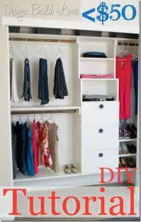 Diy Organizing Closet by 50 Handmade Closet Kit Tutorial Day 4 30 Days To An
