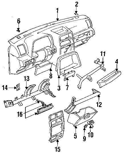 geo tracker parts diagram