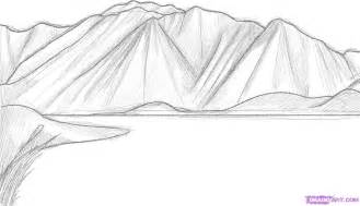 drawing the color line how to draw mountains step by step landscapes landmarks