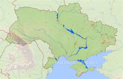 physical map of ukraine ukraine physical map