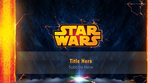 template wars wars powerpoint template on behance
