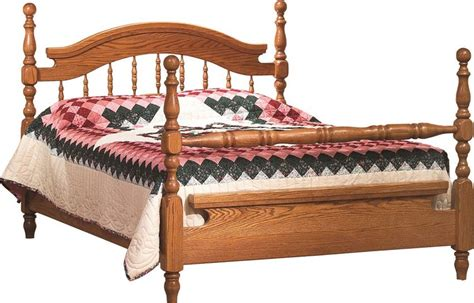 Amish Deluxe Bed From Dutchcrafters Amish Furniture Spindle Bed