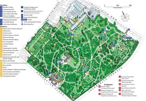 Royal Botanical Gardens Map Royal Botanic Garden Inverleith 1870 Map