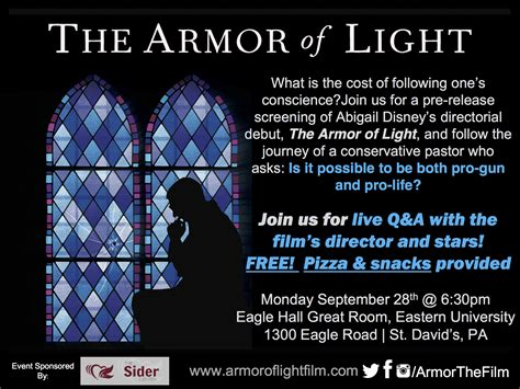 The Armor Of Light by The Armor Of Light Pre Release Screening Evangelicals For Social