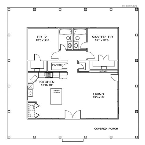 Southern Style Floor Plans Southern Style House Plan 2 Beds 2 Baths 1225 Sq Ft Plan