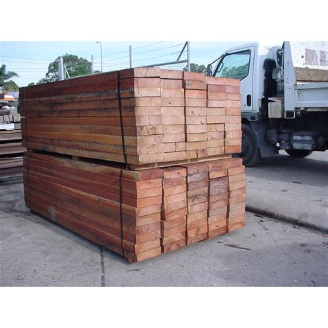 Treated Pine Sleepers Bunnings by 200 X 50mm 2 4m Durable Mixed Hardwood Sleepers Bunnings