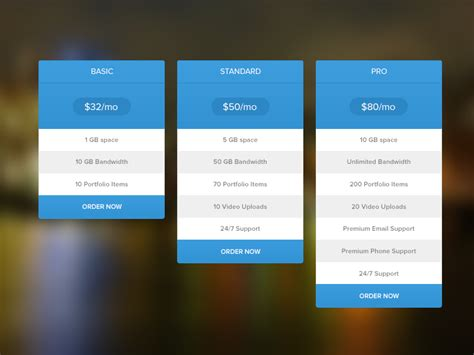 price table design flashuser pricing table free psd by masum rana dribbble