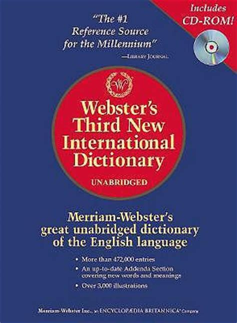 Websters Third New International Dictionary webster s third new international dictionary editors of