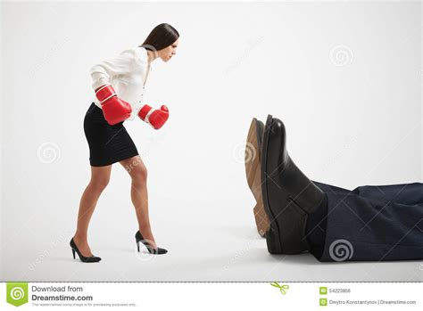 Boxer Gloves Light looking at big knocked out stock photo image