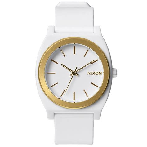 nixon time teller p white gold ano