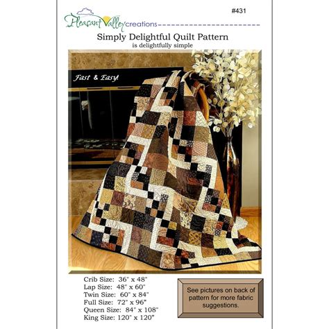 Simply Quilt by Pattern Simply Delightful Quilt Pattern By
