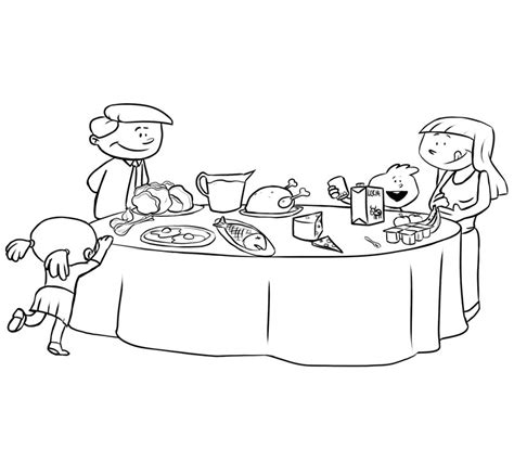 lade da tavolo bambini dibujos de una cena en familia para colorear con los ni 241 os