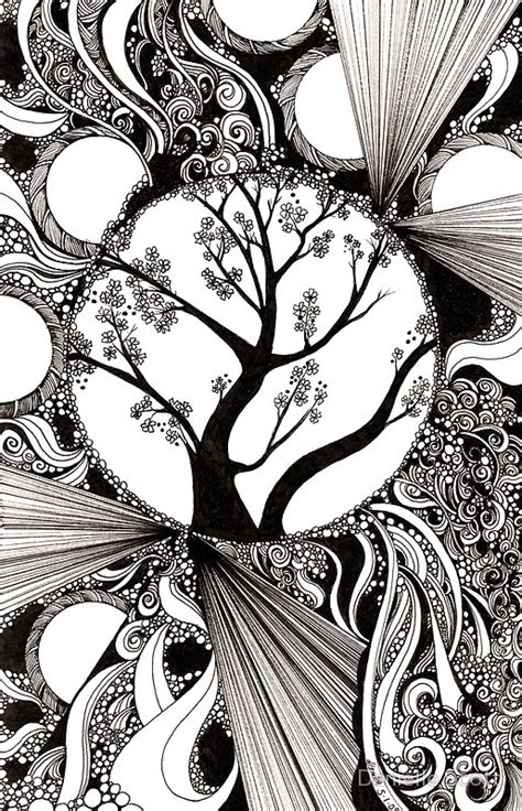 doodle meaning tree quot 59 black and white abstract with trees quot by danielle j