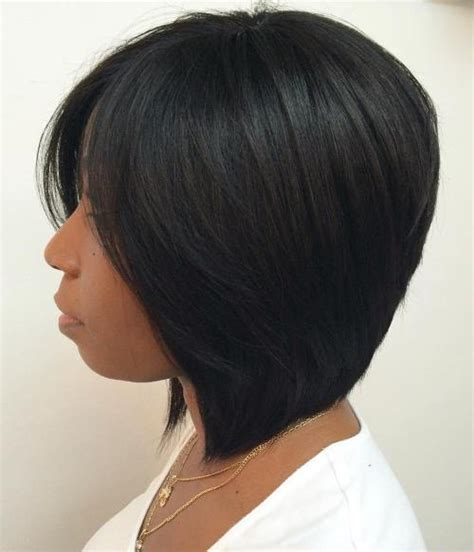 african american hairstyle bob short in the back and long in the front 60 showiest bob haircuts for black women