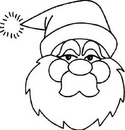 santa claus face coloring pages coloring home
