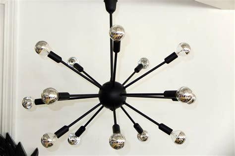 Black Sputnik Chandelier 1950s Black On Brass Sputnik Chandelier For Sale At 1stdibs