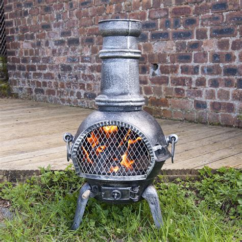 Chiminea With Grill Customer Reviews For Greenfingers Rostock Chiminea With