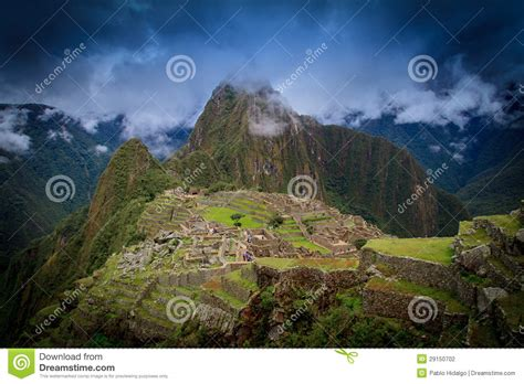 The Lost City Of The Condor ancient inca lost city of machu picchu peru stock