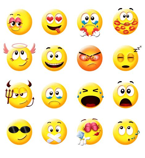 Smiley Sticker Free Download by Cute Smiley Gif Emoji Sticker For Android Download