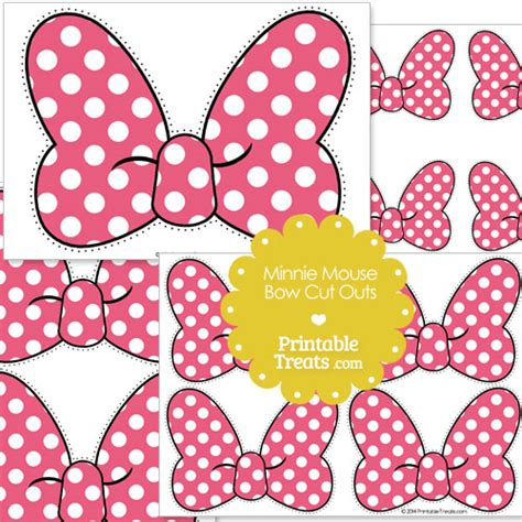 Pink Minnie Mouse Bow Template