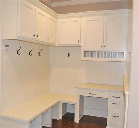 built in desk with upper cabinets tour it thursday modern twist on traditional designs