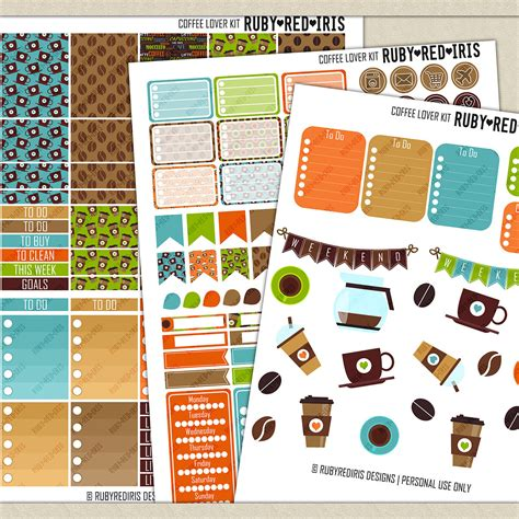 coffee planner stickers printable chandeliers pendant lights