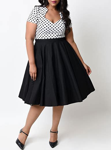Dress Bigsize Big Size Jumbo Enfocus Polkadot Skirt Size 20w Best plus size midi retro style dress sleeves polka dot skirts